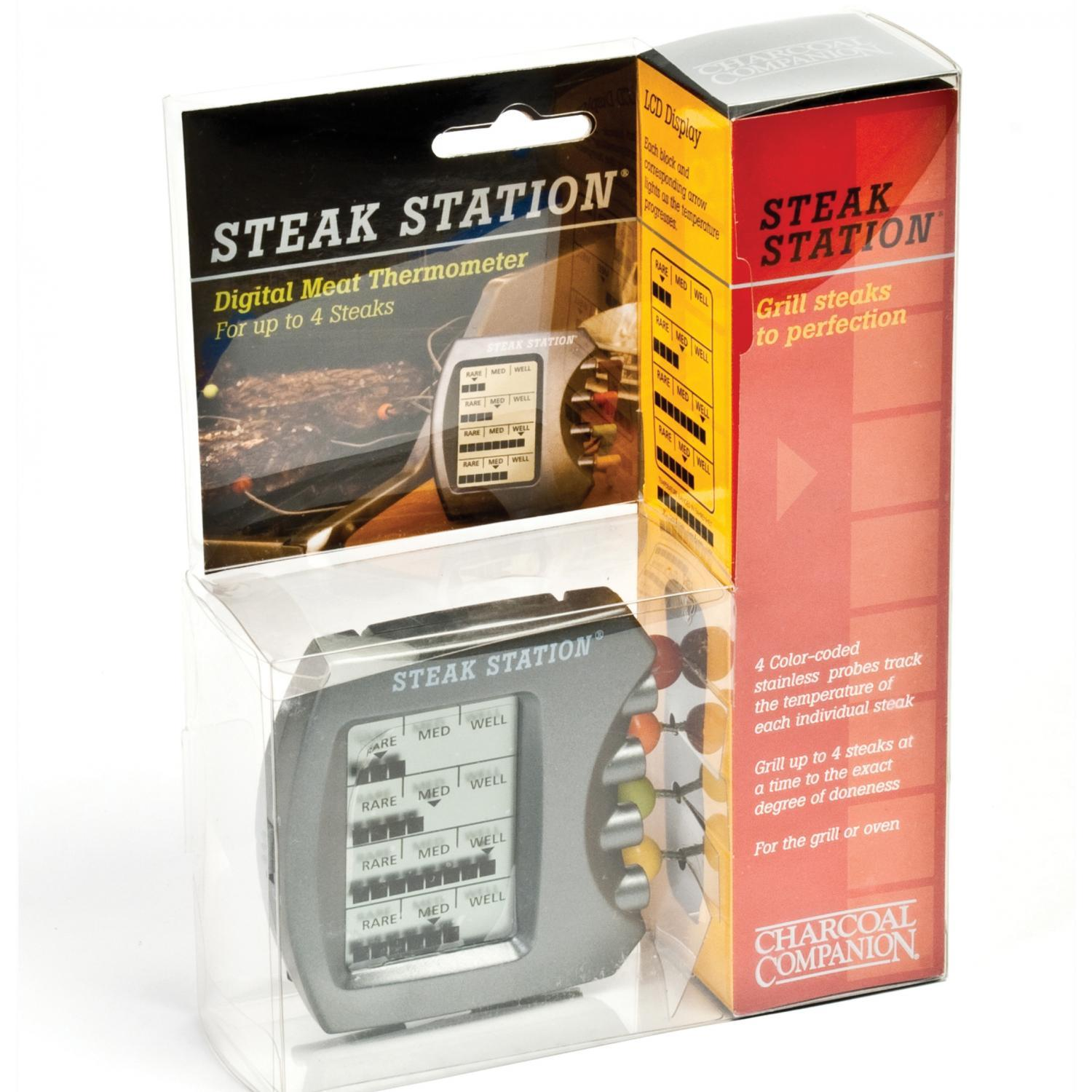 Steak Station Digital Meat Thermometer Charcoal Companion Steak ...