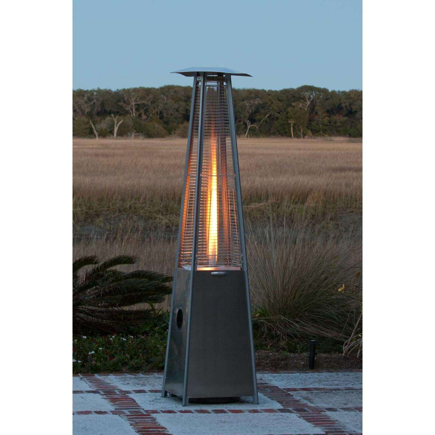 18 Fire Sense 40000 Btu Pyramid Flame Propane Patio Heater Stainless