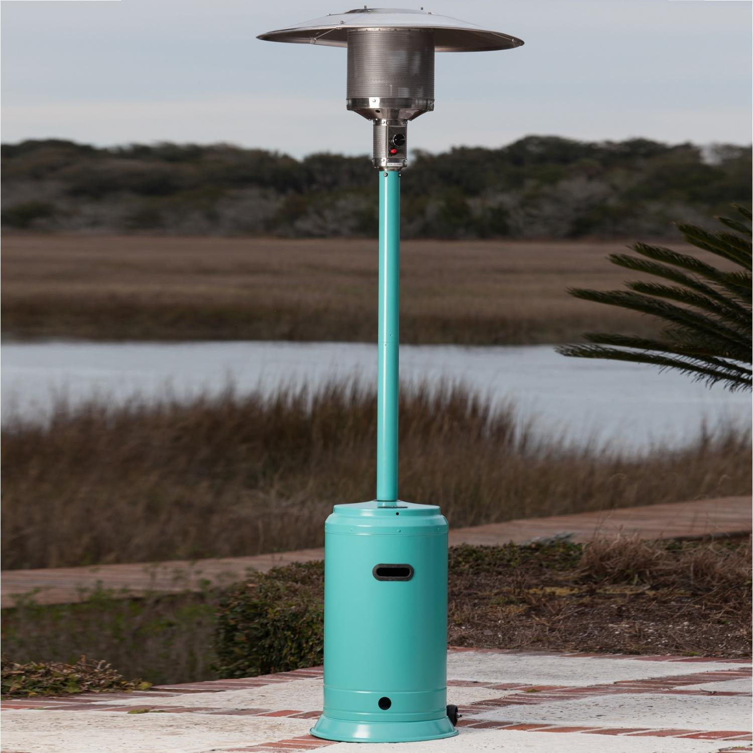 Fire Sense Color Series Aqua Blue LPG Patio Heater 61130