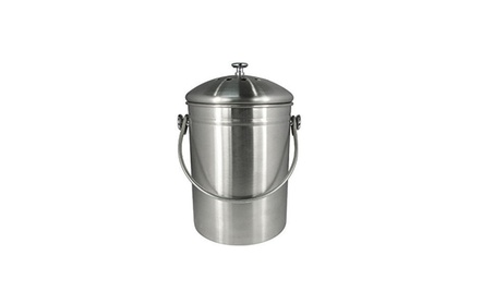 1.2 Gallon Stainless Steel Countertop Kitchen Compost Bin