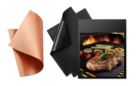 BBQ Cooking Mats Non-Stick Reusable Grill Bake Sheet Paper Set of 3