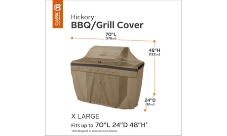 Classic Accessories Hickory Heavy-Duty Patio BBQ Grill Cover, Meduim