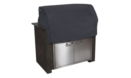 Classic Accessories Ravenna Patio Built In BBQ Grill Top Cover, Black