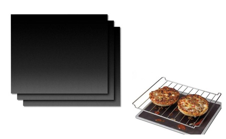 Nonstick Black Grill Mat for Outdoor Cooking