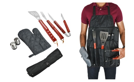 7-Piece Cooking Tool BBQ Utensil Set For A Day Of Outside Roasting