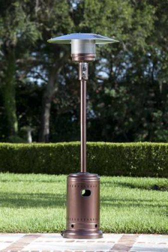 60485 Commercial Patio Heater with Reliable Piezo Igniter and Safety Auto Shut...