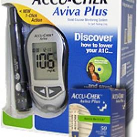 Accu-Chek Aviva Plus Diabetes Monitoring Kit Combo (kit,strips)