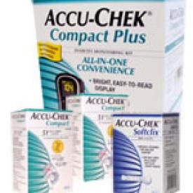 Accu-Chek Compact Plus Diabetes Monitoring Combo (kit,strips,lancets)