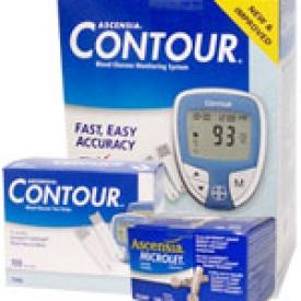 Ascensia Contour Diabetes Monitoring Kit Combo (meter,strips,lancets)