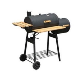Barbeque Charcoal Grill Offset Smoker Combo