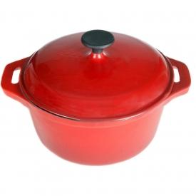 Cajun Cookware Dutch Ovens 5 Quart Enamel Cast Iron Dutch Oven – Red/Black