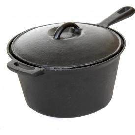 Cajun Cookware Pots 3-Quart Seasoned Cast Iron Sauce Pot – GL10491BS