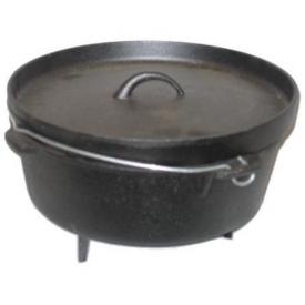 Cajun Cookware Pots With Legs 6 Quart Seasoned Cast Iron Camp Pot