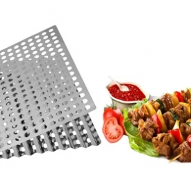 Dual-Sided Barbecue Sheet Perfect Cooking Grids Grill of the Fire