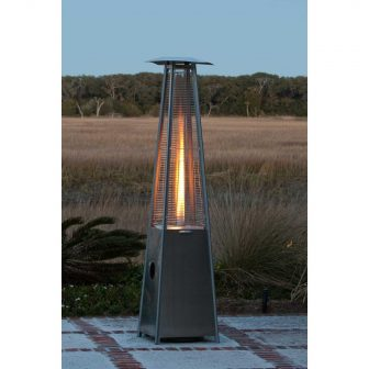 Fire Sense 40000 BTU Pyramid Flame Propane Patio Heater - Stainless